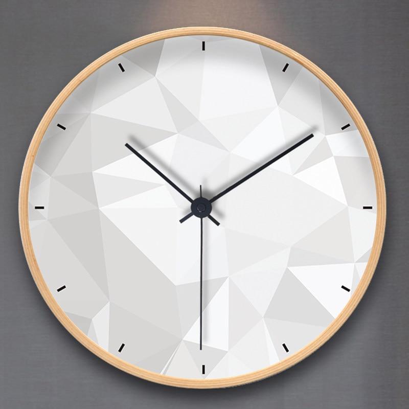 Nordic часы настенные часы гостиная дома современный минималистский Творческий Круглый mute спальня кварцевые часы
