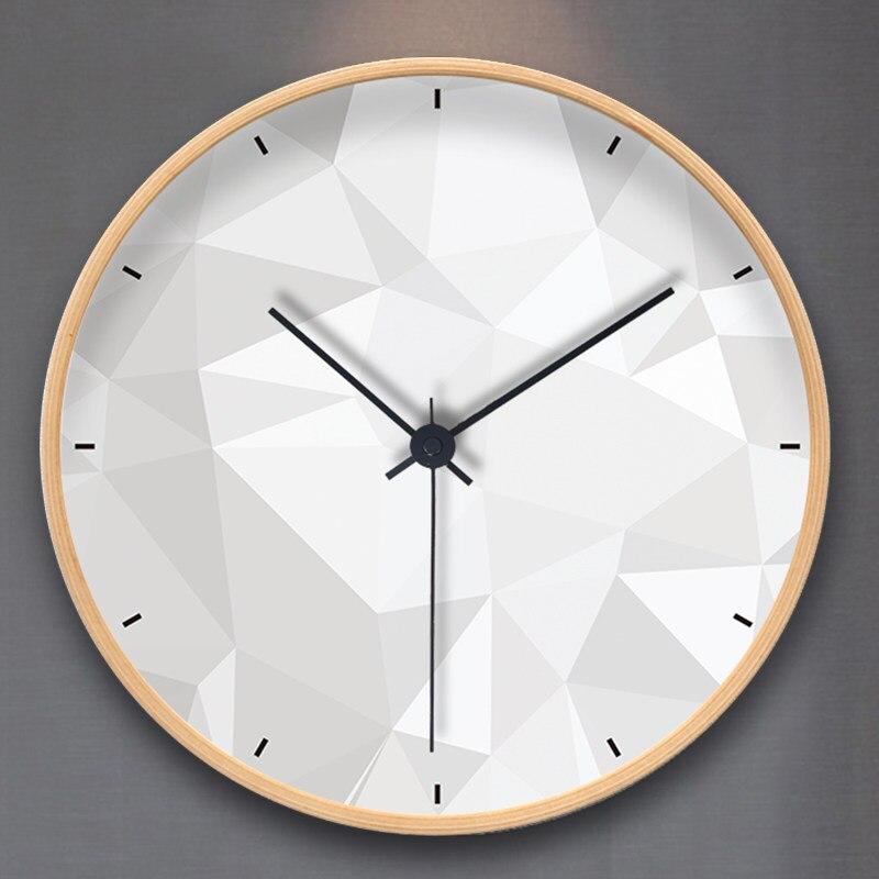 Nordique horloge horloge murale salon maison moderne minimaliste créative ronde muet chambre horloge à quartz