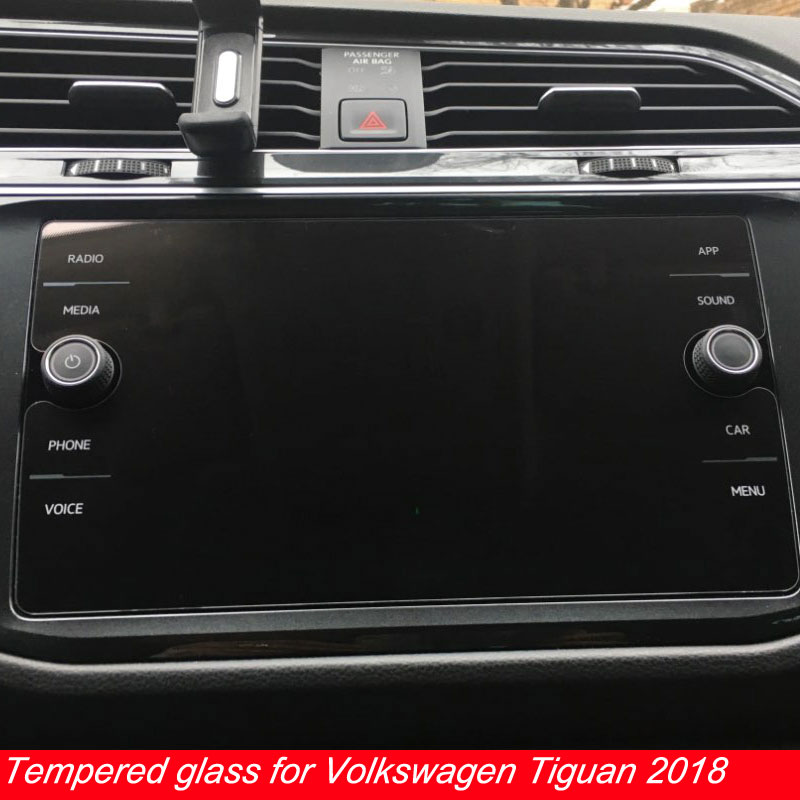 8 Inch for <font><b>Volkswagen</b></font> <font><b>Tiguan</b></font> Atlas 2018 <font><b>2019</b></font> Tempered Glass Car Navigation Screen Protector LCD Touch Display Film Protector image