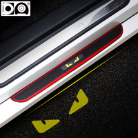 4 pieces Car door sill scuff plate Welcome pedal Rubber car protector for Hyundai Santa Fe ix35 ix25 ix20 i10 i20 i30 i40 sonata