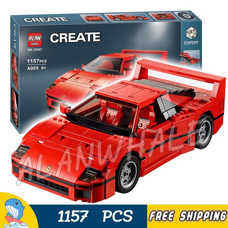 1157pcs Creator 10567 Technic Mobile Expert Sport Car F40 Model Building Blocks Toys Bricks Set Compatible with Lego