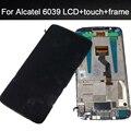 4.7 дюймов Для Alcatel One Touch Idol 3 6039 OT6039 ЖК-Дисплей с сенсорным экраном дигитайзер Ассамблеи с заменой кадров части