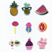 Pineapple Fruit Watermelon Lemon Patches Iron On Embroidered Patch For Clothing Sticker Paste Clothes Bag Pants Sewing