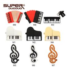 Colorful Keyboard piano model pendrive 4GB 8GB 16GB 32GB 64GB USB Flash Drive MUSIC Memory Stick Flash usb pen driver best gift