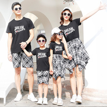 plaid family matching clothes mother daughter dresses mommy and me clothes family look outfit mom mum baby dress clothing summer