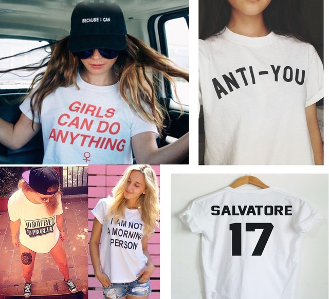 7be3dab9e3b8 Summer T Shirt Women Girls Can Do Anything Sexy Tumblr Punk Tops Skateboard  Grunge T-Shirt tumblr Clothes Tee Shirt Femme