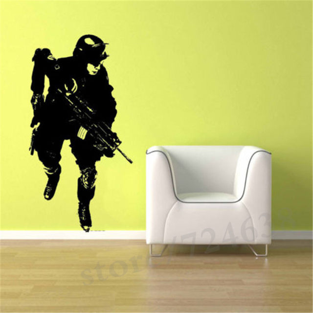 Online Shop Military Soldier Army Man Boy Room Vinyl Sticker Decal ...