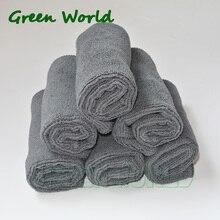 Зеленый мир 4 шт./компл. 25x25 см/30X30 см микрофибры пистолет Чистящие полотенца, чистая ткань, полотенца, кухня, ткань для очистки