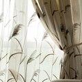 Тюлевые шторы с вышивкой Reed для гостиной  кухни  занавески на окна для спальни  американский пасторальный стиль  Текстиль для дома