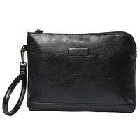 5 Pcs Of ETONWEAG 1 Black PU Leather Men S Business Casual Clutch Bag Mobile Phone