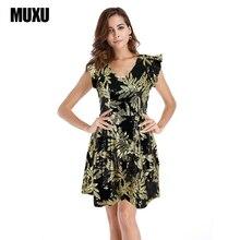 MUXU sexy party dresses women sequin womens clothing summer club glitter ruffle patchwork jurken vestidos mujer tunic ladies