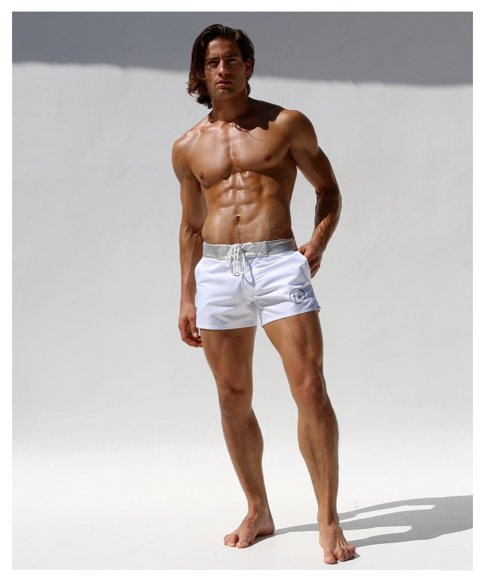 Huangwei Elephant Mandala Color Background Mens Swimming Boxer Briefs Trunks Square Leg Swim Trunks Board Shorts