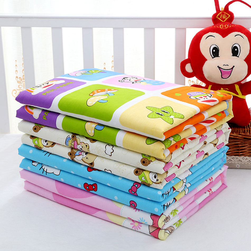 Baby bed sheet pattern - 80 120cm Variety Of Styles Newborn Baby Reusable Changing Pad Covers Waterproof Baby Diapers
