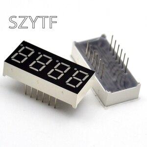 Image 1 - 100 pièces 4bit Anode commune Tube numérique positif 0.36 po. Rouge LED Chiffres 7 Segments 3461AS