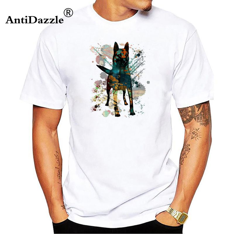 e233d57220 Men arrived Brand Clothing 100% Cotton Tees Casual Male Best Selling T Shirt  Malinois Print