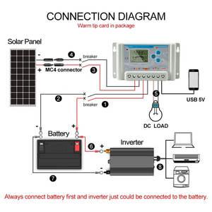 Image 3 - 30A 10A 20A Solar Laderegler 12V 24V 36V 48V 60V LCD Solar Ladegerät Regler li Li Ion lithium LiFePO4 Batterien SL03
