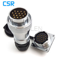 WF28 Serie 16 Pin Waterproof Connector IP67 Male And Female Connector LED 16 Pins Power Cable