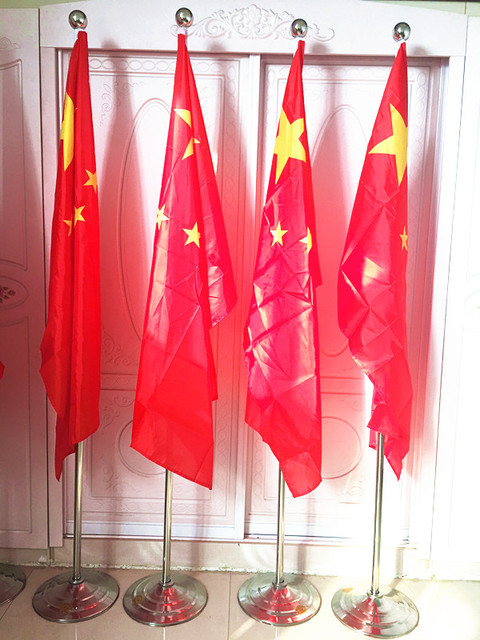 Wholesale cheap promotional silver indoor flag pole with stand,MHP ...