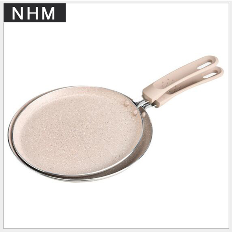 NHM 1 pcs 8/10 inch Stainless steel 6 inch egg cake pan non-stick pan cooking tools