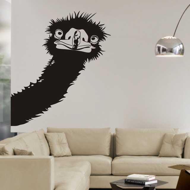 Ostrich Wall Decals, Birds Wall Stickers Home Wall Decor Wall Decals