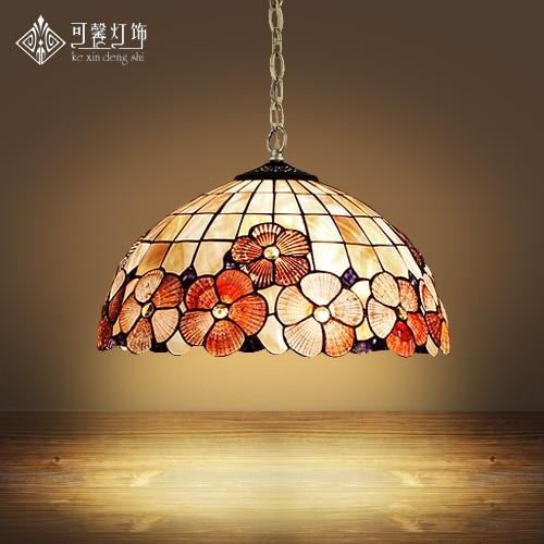 European Tiffany shell shell pendant light single bedroom lamp WARATAH Restaurant bar dining room hanging lighting