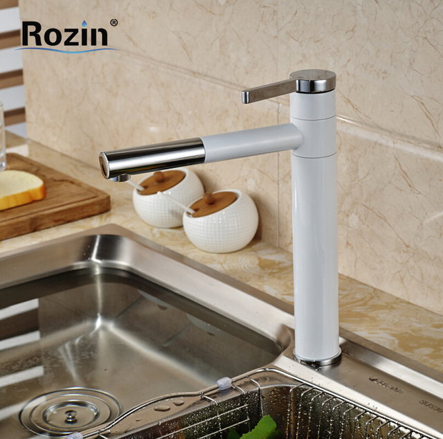 Grilled White Paint Countertop Bathroom Kitchen Sink Faucet Deck ...