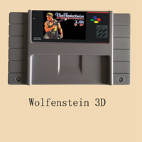 Wolfenstein 3D 46 Pin 16 Bit Grey Game Card For USA NTSC Game Player