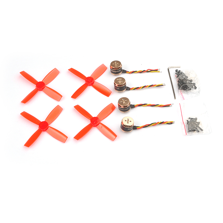 4pcs SE1104 KV4000 KV6000 KV7500 Brushless Motor with 2pairs 2035 2045 Propellers for RC Quadcopter FPV Racing Drone 4set lot universal rc quadcopter part kit 1045 propeller 1pair hp 30a brushless esc a2212 1000kv outrunner brushless motor