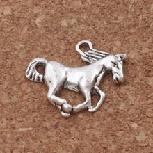 Skinny Horse Spacer Charm Beads 20x17mm 210pcs Tibetan Silver Pendants Handmade Jewelry DIY L049 handmade 925 silver om beads jewelry findings tibetan om mani padme hum words beads om mantra beads tibetan jewelry beads