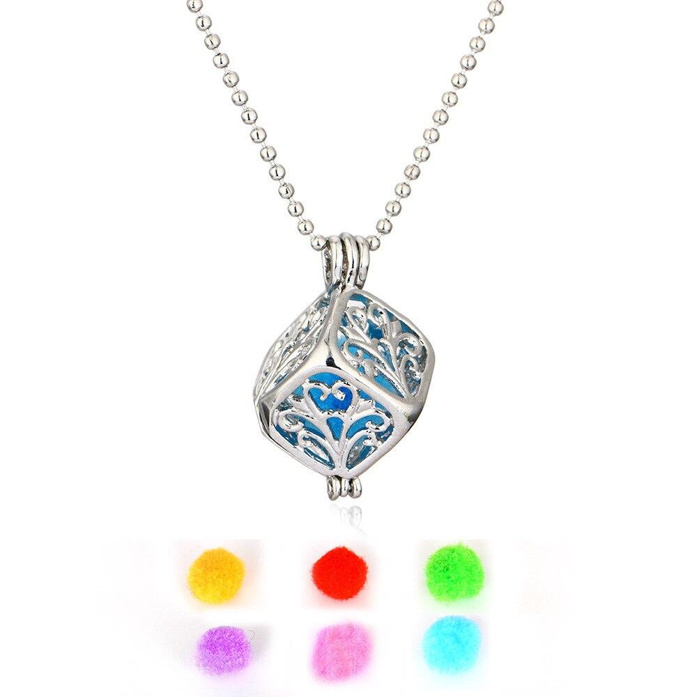 Croix motif bloc boîtier parfum coton chandail chaîne collier madame aromathérapie pendentif accessoires HMS013 shoul bijoux colar