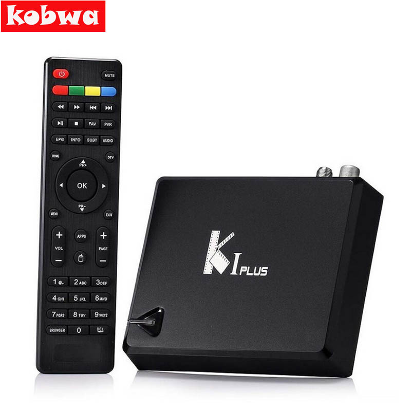 Original K1 PLUS S2 T2 Android 5.1 Tv Box Amlogic S905 Quad core 64bit Support DVB-T2 DVB-S2 1G/8G 1080p 4K tv box Support Ccamd k1 dvb s2 android 4 4 2 amlogic s805 quad core tv box