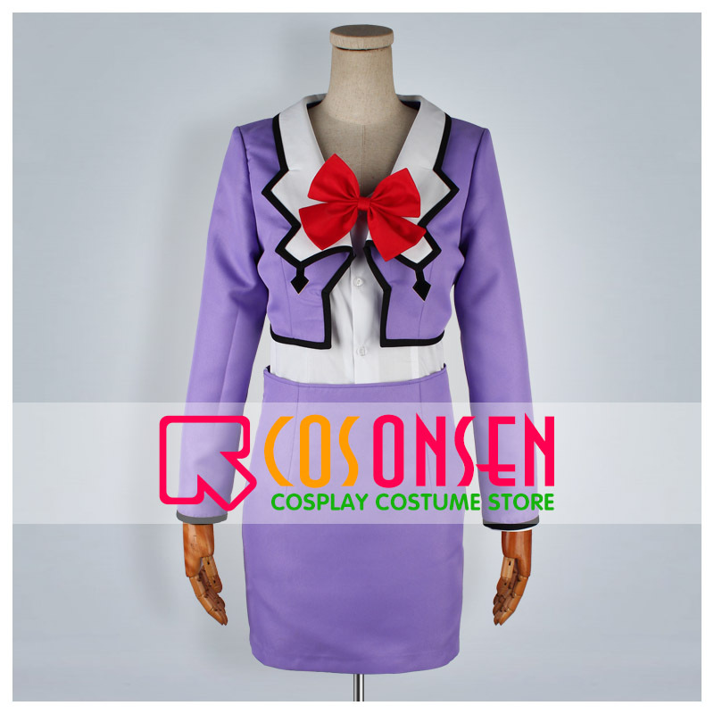 COSPLAYONSEN Sailor Moon Pluto Meiou Setsuna Cosplay Costume Purple Color All Size