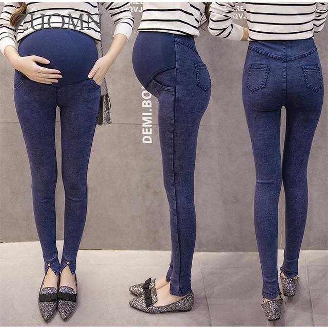 Inverno calças de Brim de Maternidade Com Calças de Veludo Calças Jeans Maternidade Roupas Gravidez Para Mulheres Grávidas Calça Jeans Plus Size YL281