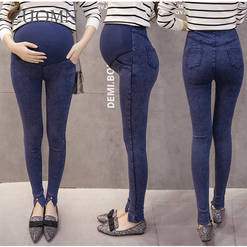 7b13f21c53bf8 Winter Maternity Jeans With Velvet Pregnancy Pants Denim Maternity Clothes  Trousers For Pregnant Women Jeans Plus Size YL281-in Leggings from Mother &  Kids