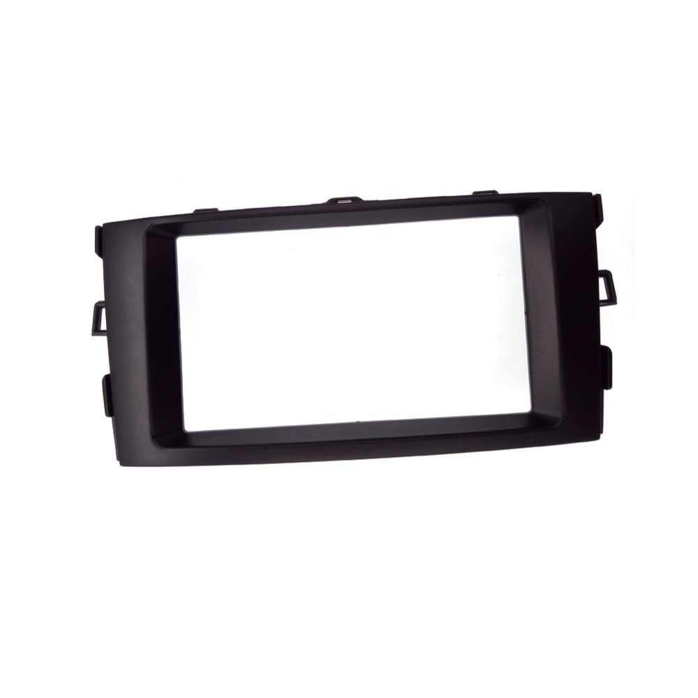 Konsoli do montażu na 2011 Toyota Auris Corolla 173*98mm 2DIN Radio samochodowe wykończenia panel audio zestaw czarny kolor konsola ABS materiał