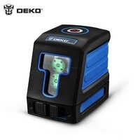 DEKO DKLL12 Palette Finder Laser ebene vertikale horizontale Laser 2 linie mini-stil selbst ausrichten
