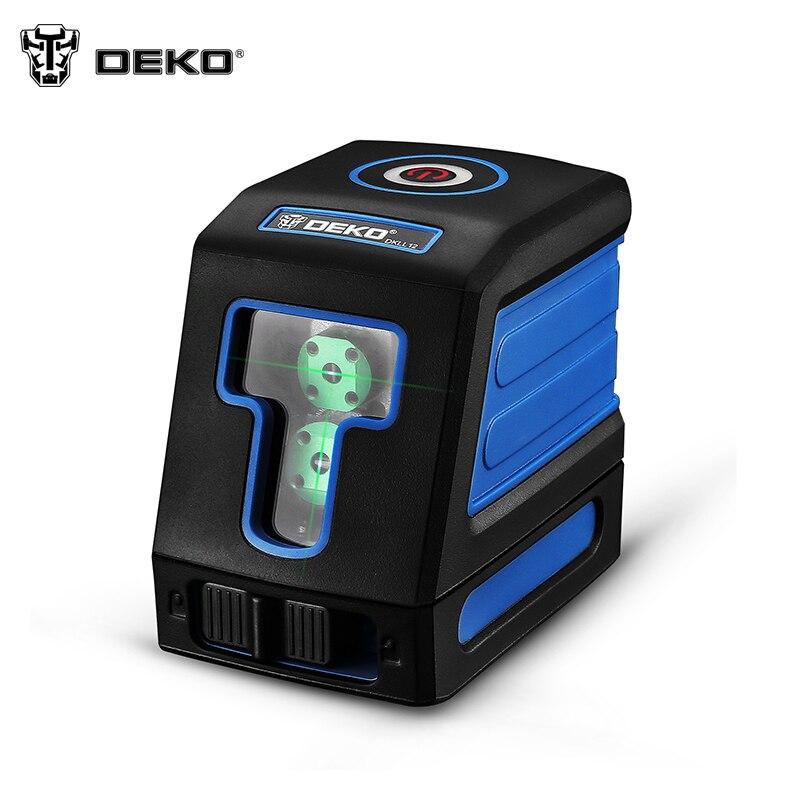 DEKO DKLL12 Range Finder Laser level vertical horizontal Lasers 2 line mini-style self-aligning