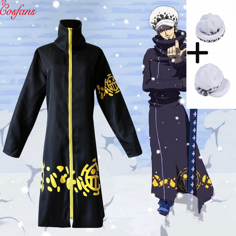 Boy's one piece adult cosplay costume Anime dress 2 years later cosplay Trafalgar legal Death surgeon cosplay costume coat 2018