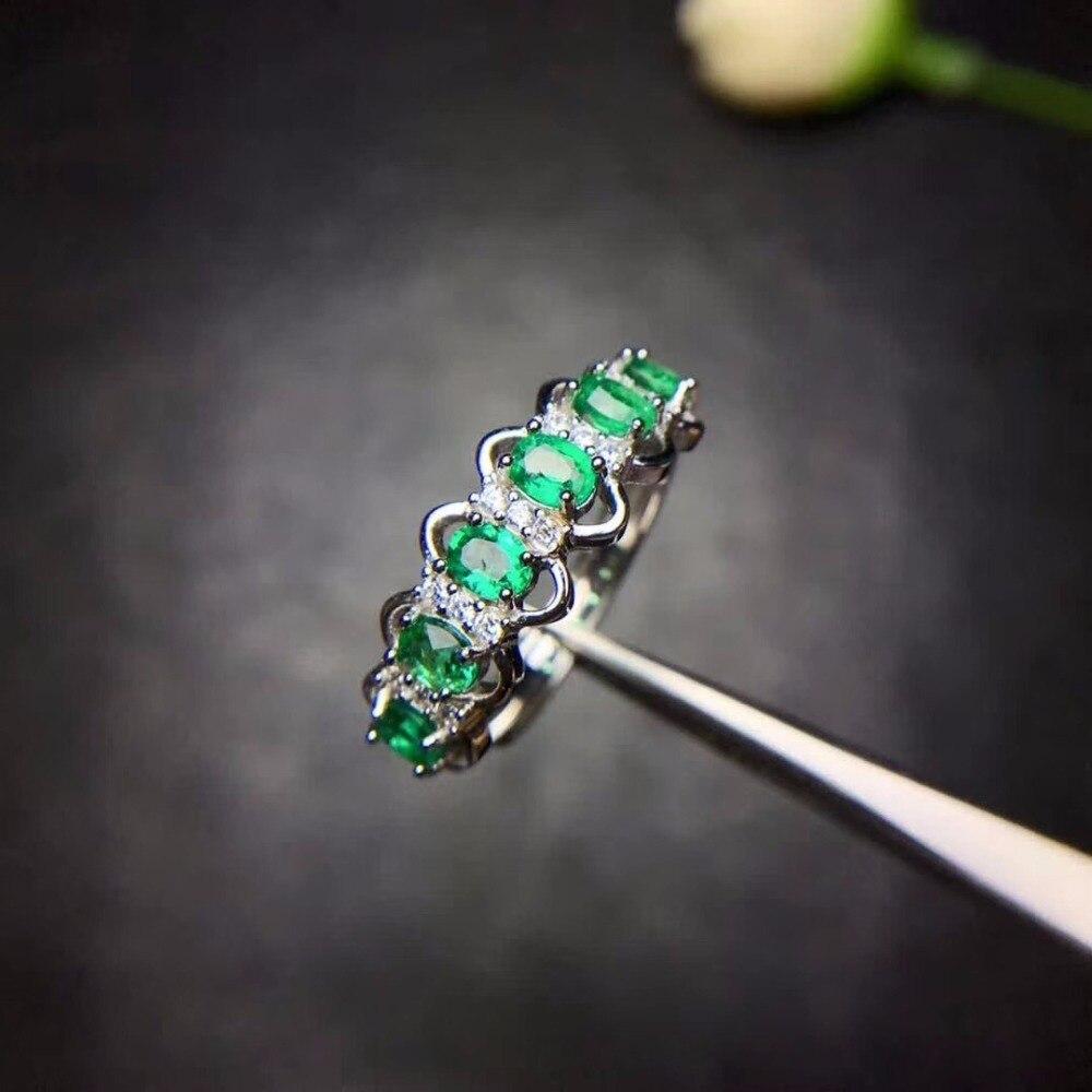 HTB1pTpAaVzsK1Rjy1Xbq6xOaFXa9 - Uloveido Green Emerald Ring Flower Rings, Silver 925 Ring