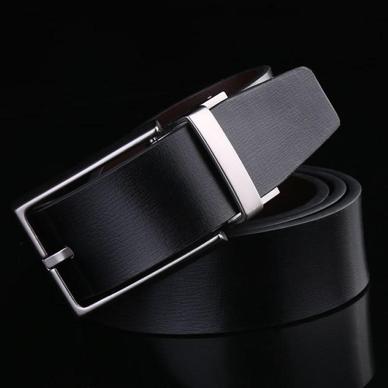 Correa de los hombres correa de cuero de vaca de cuero genuino de lujo Correa hombre cinturones para hombre nuevo de moda clásico vintage pin hebilla NX4017A