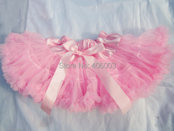 baby girls party chiffon children petticoat pink fluffy skirt for girls free shipping