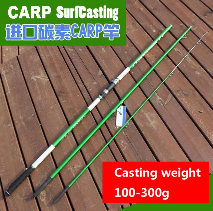 4.2M casting Wt 100-300(200)g 3 sections European SURFCasting ROD Carbon fishing rod Distance Throwing Rod Intervene carp rod цена