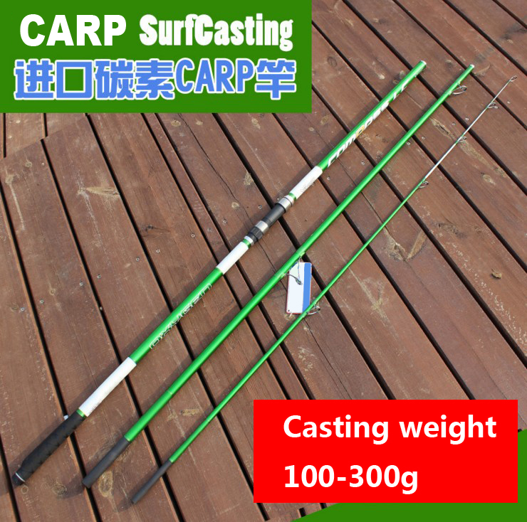 4.2M casting Wt 100 300(200)g 3 sections European SURFCasting ROD Carbon fishing rod Distance Throwing Rod Intervene carp rod