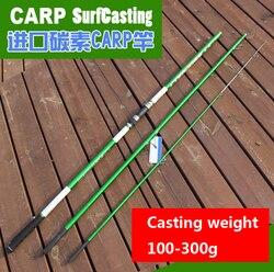 4.2M casting Wt 100 300 (200) g 3 sekcje europejski SURFCasting ROD wędka węglowa odległość wędka do zarzucania interweniować karpia w Wędki od Sport i rozrywka na