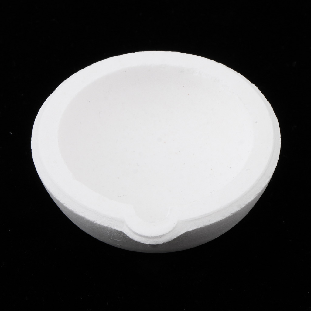 Quartz Silica Melting Crucible Dish Pot Cup For Gold Silver 100g 4.5x1.7cm