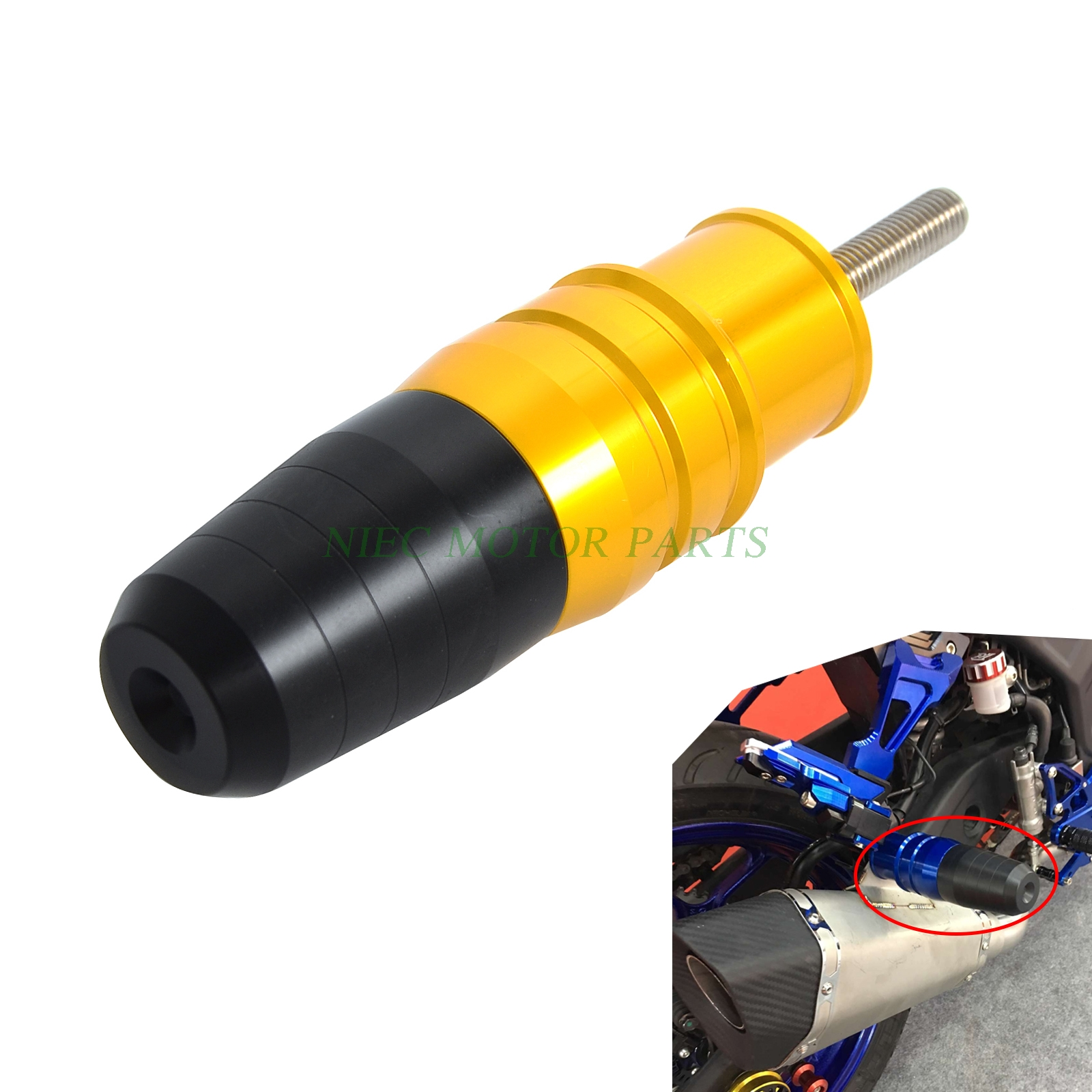 Motorcycle Crash Pads Exhaust Sliders Body Protector For KAWASAKI ZX-10R ZX10R 2016