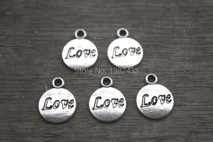 30pcs--Love Charm,Antique Tibetan Silver love PendantsCharms, DIY Supplies, Jewelry Making,15x12mm
