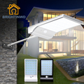 Светодиодный светильник на солнечной батарее 36 светодиодный 450LM PIR датчик движения приведенный в действие уличные лампы Садовый напольный ...