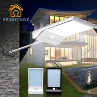 أدت مصابيح الشوارع بالطاقة الشمسية البير استشعار الحركة ضوء 36led 450lm حديقة outdoor للطاقة الإضاءة ماء ip65 أضواء الجدار