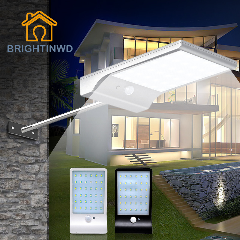 LED Solar Light 36led 450LM PIR Motion Sensor Powered Street Lamps Garden Outdoor Energy Lighting Waterproof IP65 Wall Lights лонгслив для мальчика maloo by acoola volans цвет белый темно синий 2 шт 22150100012 8000 размер 74